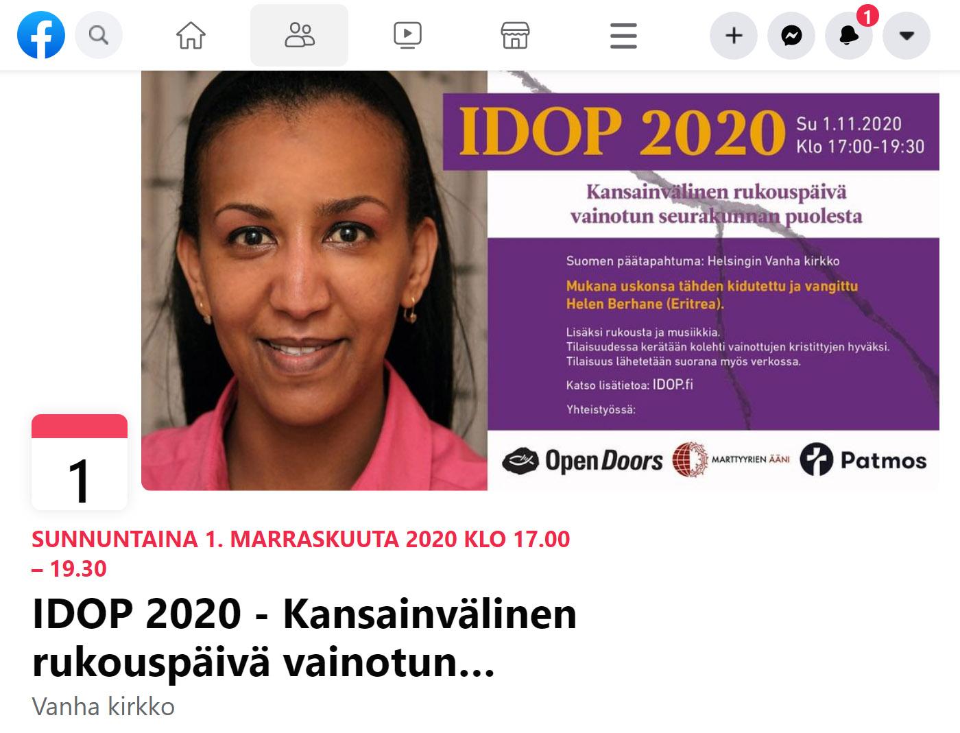 idop2020 facebook event