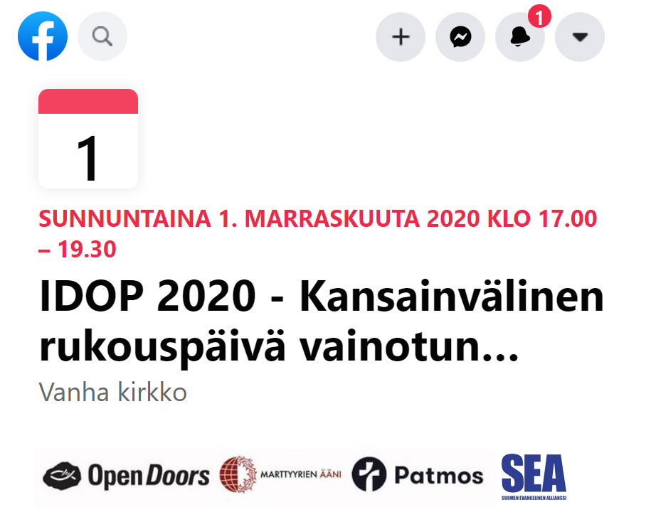 idop2020 facebook event